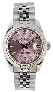Rolex Rolex Datejust 178274 Midsize Stick Dial Pink Dial Stainless Jubilee Bracelet
