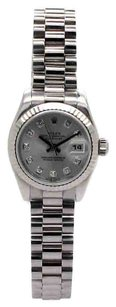 Rolex Rolex Datejust 179179 18K Original Silver Diamond Dial Ladies Watch