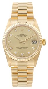 Rolex Rolex Datejust 18K Yellow Gold Diamond Presidential Unisex Watch