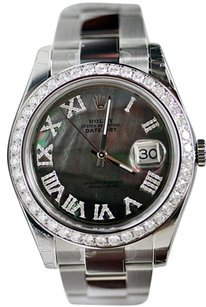 Rolex Rolex Datejust 2 41mm Stainless Steel With Grey MOP Roman Diamond Dial Bezel 116300
