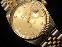 Rolex Rolex Datejust 2tone 18k Gold Stainless Steel Champagne Factory Diamond 16013