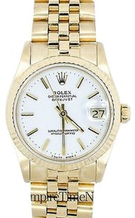 Rolex Rolex Datejust 68278 18k Solid Yellow Gold Jubilee Band White Dial Womens Watch