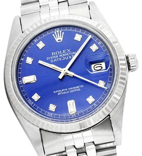 Rolex Rolex Datejust Blue Diamond Mens Watch 36mm 1601