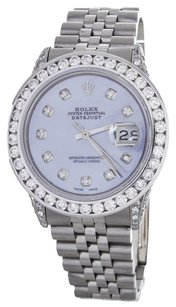 Rolex Rolex DateJust Blue Diamond Stainless Steel Watch 16014