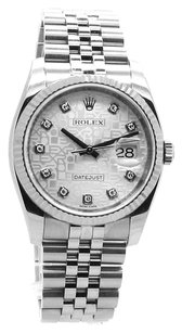 Rolex Rolex Datejust Diamond Silver Jubilee Dial REF: 116234 Men's Watch