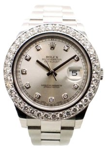 Rolex Rolex Datejust II Diamond DIal 116334 5.0 ct Diamond Bezel Men's Watch