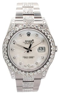 Rolex Rolex Datejust II Stainless Steel Custom Diamond Men's Watch