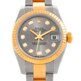 Rolex Rolex Datejust Ladies Steel 18k Yellow Gold Diamond Watch 179173