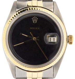Rolex Rolex Datejust Mens 2tone 14k Gold Stainless Steel Jubilee W Black Dial 1601