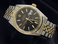 Rolex Rolex Datejust Mens 2tone 14k Gold Stainless Steel Watch Black Dial Jubilee Band