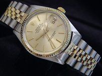 Rolex Rolex Datejust Mens 2tone 18k Gold Stainless Steel Watch Champagne Dial 16013