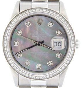 Rolex Rolex Datejust Mens Stainless Steel Tahitian Mop Diamond W President Style Band
