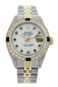 Rolex Rolex Datejust Mother of Pearl Sapphire Diamond Lady Watch 69173