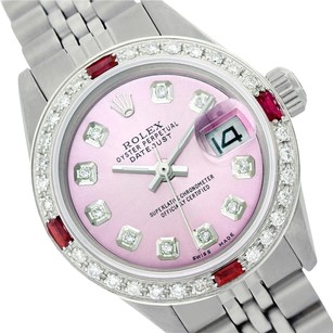 Rolex Rolex Datejust Pink Diamond Ruby Lady Watch 6917
