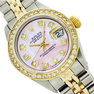 Rolex Rolex Datejust Pink Mother of Pearl Dimond Lady Watch 6917