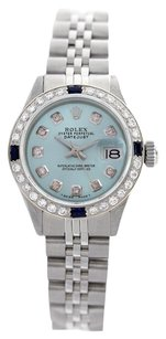 Rolex Rolex Datejust Powder Blue Diamond Lady Watch 6917
