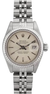 Rolex Rolex DateJust Stainless Steel Off-White Tapestry Dial Watch 69174