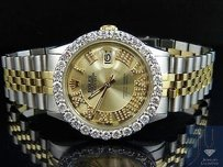 Rolex Rolex Datejust Tone 18k Gold 36mm Stainless Steel Jubilee Diamond Watch 5.6 Ct