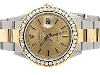 Rolex Rolex Datejust Tone 18k Gold 36mm Stainless Steel Oyster Band Diamond Watch 4c