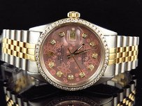 Rolex Rolex Datejust Tone 18k Stainless Steel Jubilee Band Pink Diamond Watch Ct