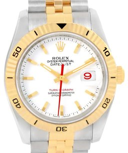 Rolex Rolex Datejust Turnograph Steel Yellow Gold Watch 116263 Box Papers