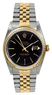 Rolex Rolex Datejust Two-Tone Black Dial Watch