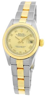 Rolex ROLEX DateJust Two-Tone Champagne Roman Dial Oyster Ladies Watch 69173