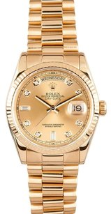 Rolex Rolex Day-Date President 18k Yellow Gold Diamond Dial Watch 118238