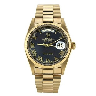 Rolex Rolex Day-date President Yellow Gold Black Dial Roman Numeral - 36mm