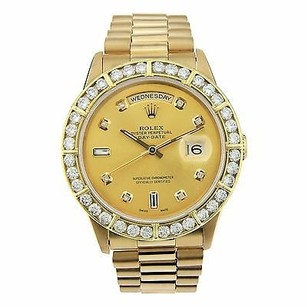 Rolex Rolex Daydate 36mm - President - 18kt Yellow Gold Diamond Dial Bezel - 18238