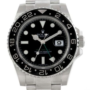 Rolex Rolex Gmt Master Ii Ceramic Bezel Stainless Steel Mens Watch 116710