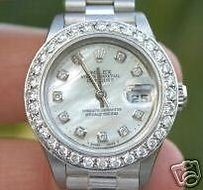 Rolex Rolex Ladies Datejust 18k White Gold President Band