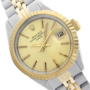 Rolex Rolex Ladies Datejust 69173 Champagne Dial Original Fluted Bezel Watch