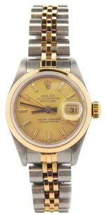 Rolex Rolex Ladies DateJust Two-Tone Champagne Dial Watch 6917