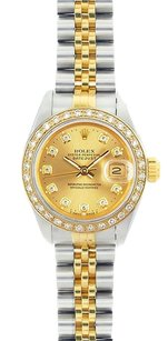 Rolex Rolex Ladies DateJust Two-Tone Champagne Diamond Watch 69173