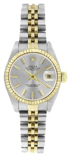 Rolex Rolex Ladies DateJust Two-Tone Silver Stick Dial Watch 69173