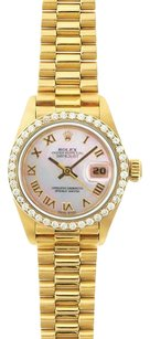 Rolex Rolex Ladies DateJust White Roman Mop Bezel President Watch 69178