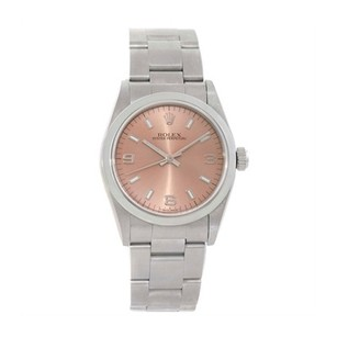 Rolex Rolex Ladies Oyster Perpetual Steel Salmon Midsize Watch 77080