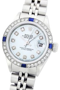 Rolex Rolex Lady Datejust Stainless Steel and 18K White Gold Ice Blue Diamond and Sapphire Watch