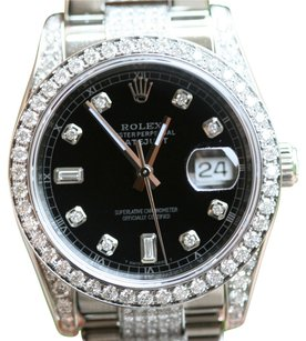 Rolex Rolex Men's 36mm Stainless Steel Diamond DateJust Watch 116200