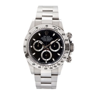 Rolex Rolex Men's Cosmograph Daytona Stainless Steel Black Watch 116520