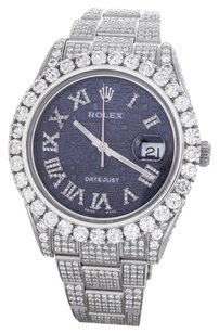 Rolex Rolex Men's DateJust Blue Jubilee Diamond Watch