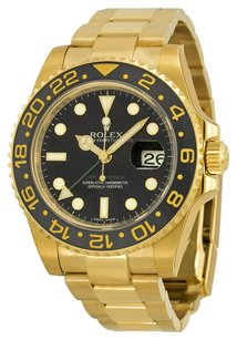 Rolex Rolex Men's Oyster Perpetual 18k Yellow Gold GMT-Master II 116718