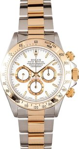 Rolex Rolex Men's Zenith Daytona Two-Tone White Dial Watch 16523