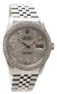 Rolex Rolex Datejust 16014 Stainless Steel Custom Diamond Dial & Bezel Men's Watch