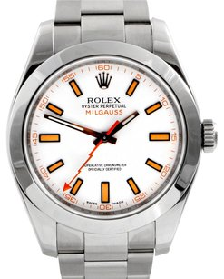 Rolex Rolex Milgauss Stainless Steel White Dial Men's Watch