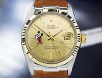 Rolex Rolex Oyster Datejust 1601 Mens Swiss Made Watch With Mickey Dial C1970s 5502