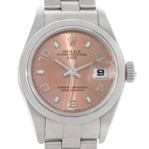 Rolex Rolex Oyster Perpetual Date Pink Dial Ladies Steel Watch 79160