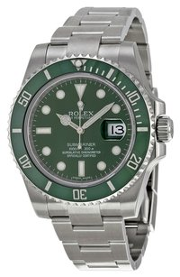 Rolex Rolex (HULK) Oyster Perpetual Green Submariner Date Watch 116610LV