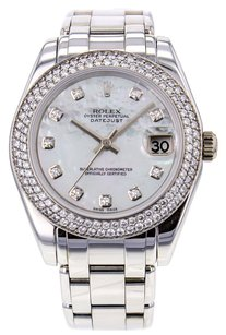 Rolex Rolex Pearlmaster 81339 18K White Gold White Mother of Pearl Dial Ladies Watch RLXLMPW5